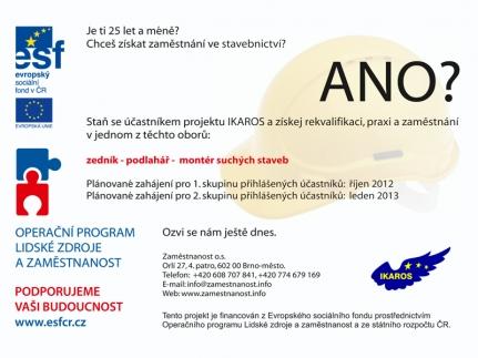 Zaměstnanost o.s. dokončilo výběr účastníků 1. běhu projektu IKAROS